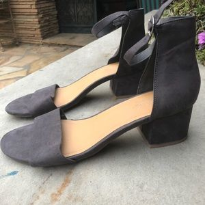 Chunky heel ankle strap shoes